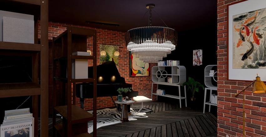 library Interior Design Render