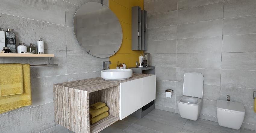 Apartamento loft Interior Design Render