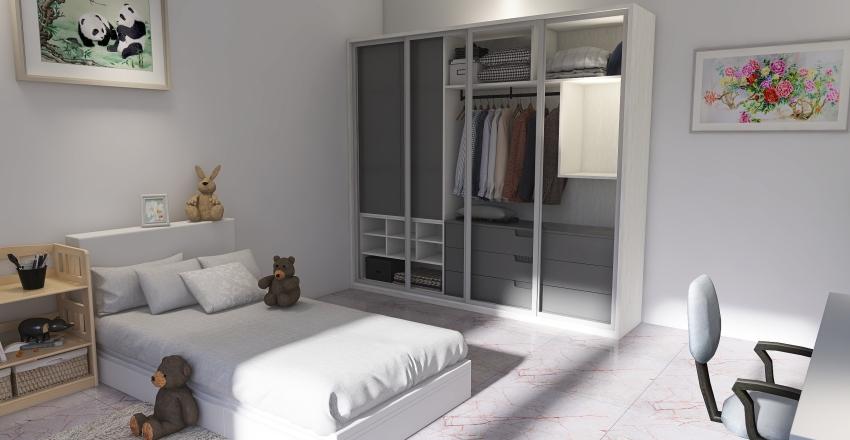adult room.   Interior Design Render