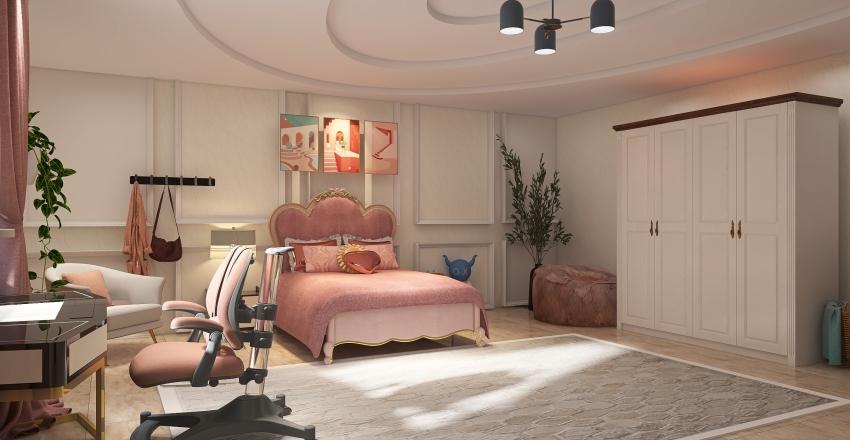 Princess's bed room❤. Interior Design Render