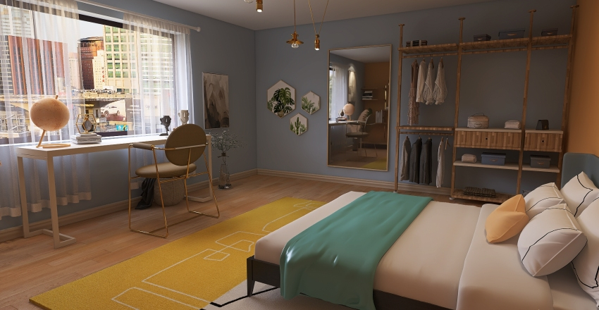 »»━ SIMPLE BEDROOM [5.5x6] ━«« Interior Design Render