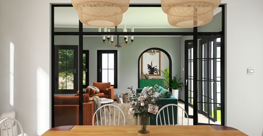 House Boho  Interior Design Render