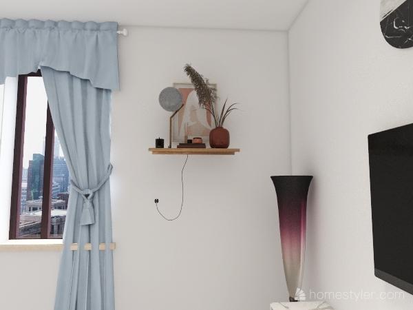 living room. Interior Design Render