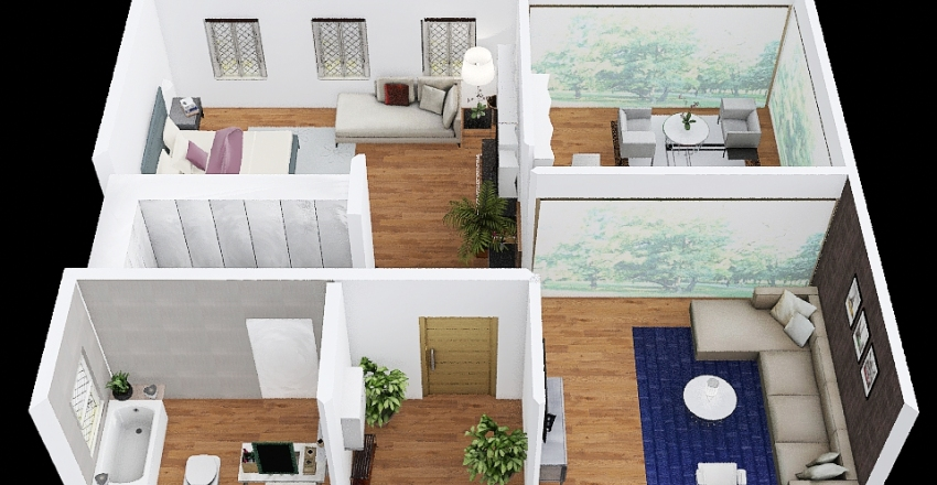 ISM_House_Floor2 Interior Design Render