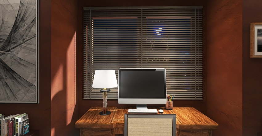 Special purpose room : Home library Interior Design Render