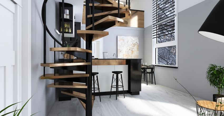 B14 - 54m2 plus galerie Interior Design Render