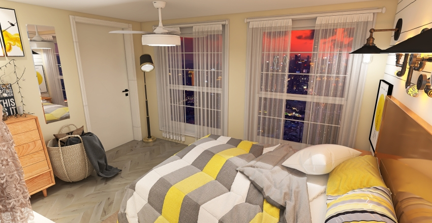 Yellow City Interior Design Render