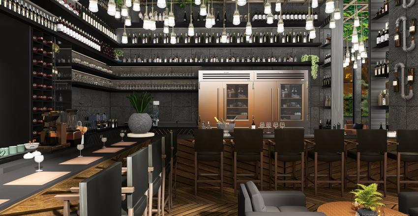 El Mano Restaurant Interior Design Render