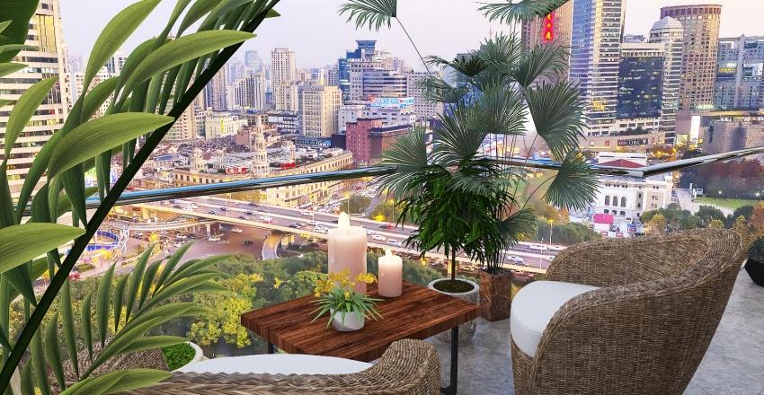 Industrial loft in the city center Interior Design Render