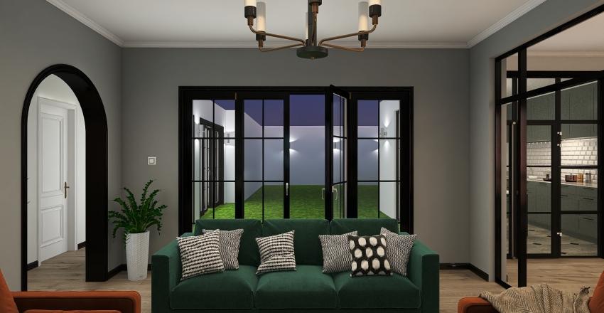 House Boho  Interior Design Render