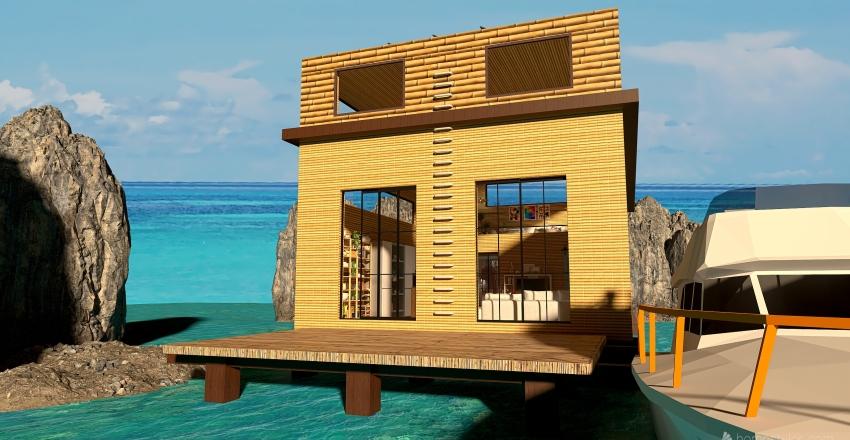 Marooned Paradise Interior Design Render