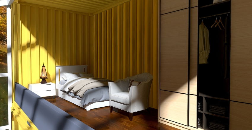 The Yellow House Airbnb Project Interior Design Render