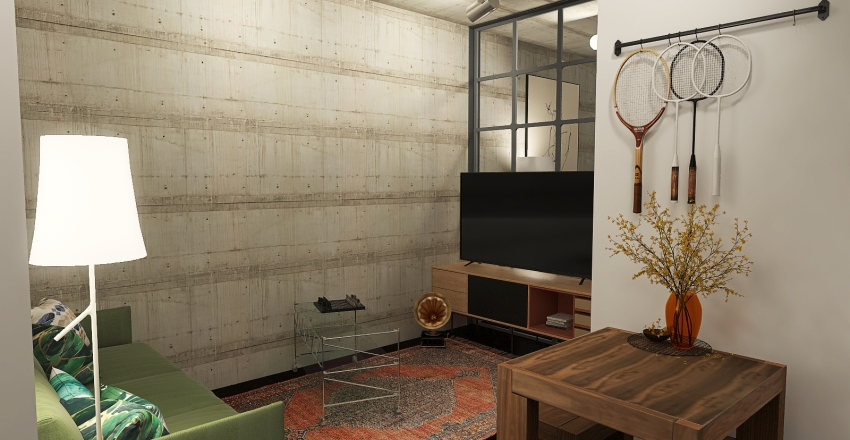 Sylvia's NY studio Interior Design Render