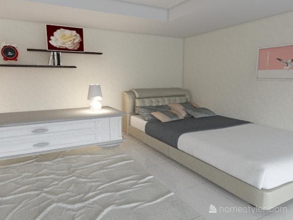 Girls bed room. Interior Design Render