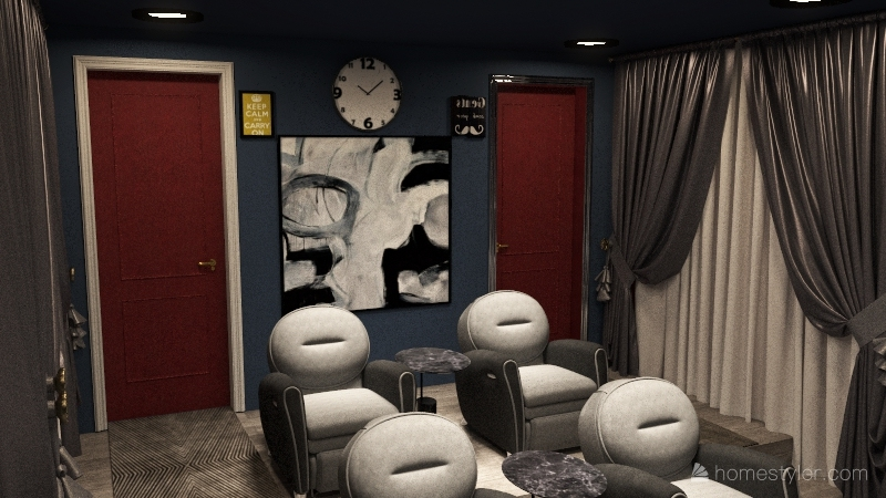 Movie Theater Room Interior Design Render