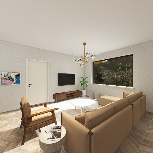 LA House Interior Design Render
