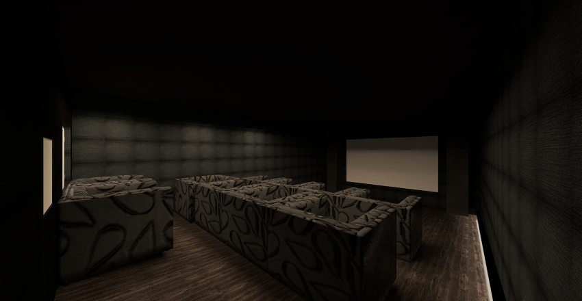 Personal Movie Theater Henry A 3B Interior Design Render