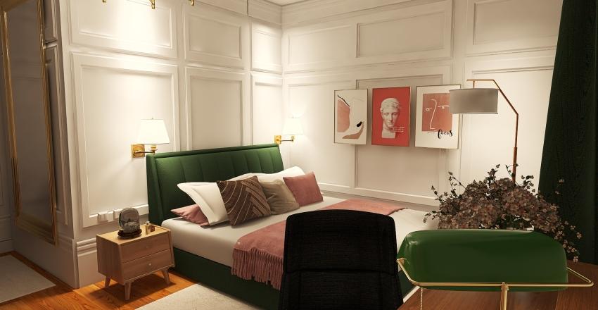 Future bedroom Interior Design Render