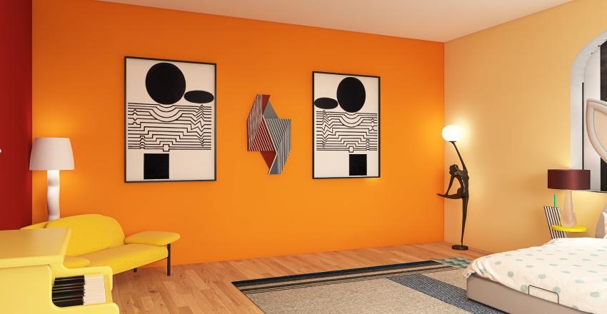 Memphis Style Kids Room Interior Design Render