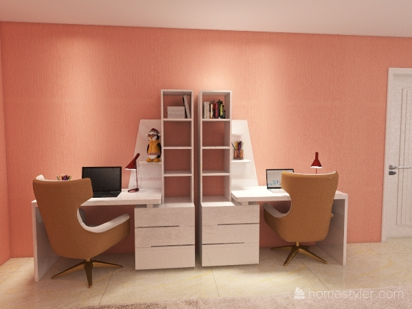 """""""Quiet life"""" Kids bedroom Interior Design Render"""
