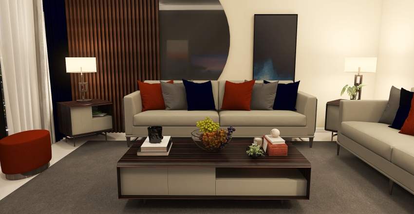 living room 2 Interior Design Render