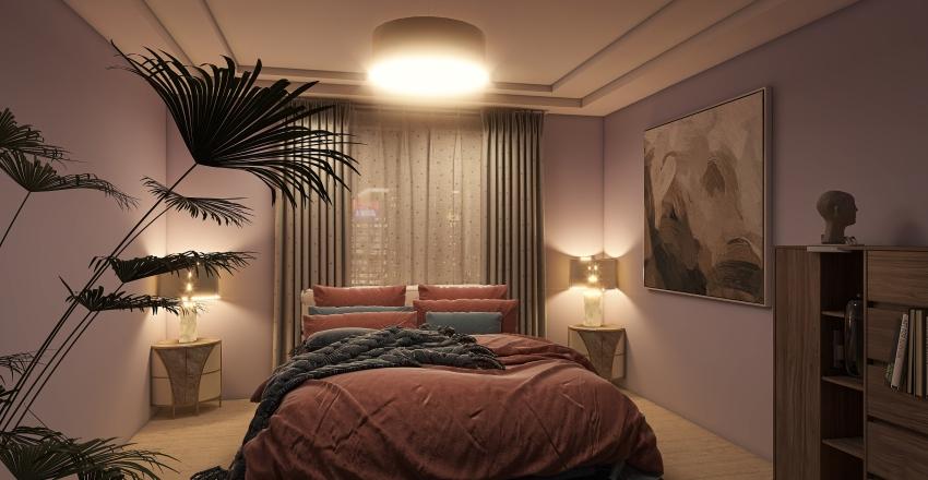 Cozy Bedroom❤. Interior Design Render