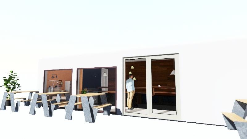 GABANA CAFE Interior Design Render