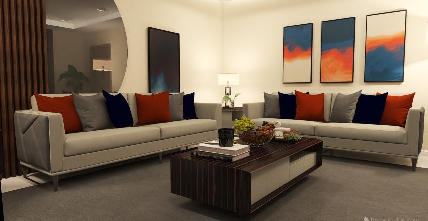 living room 2 Interior Design Render
