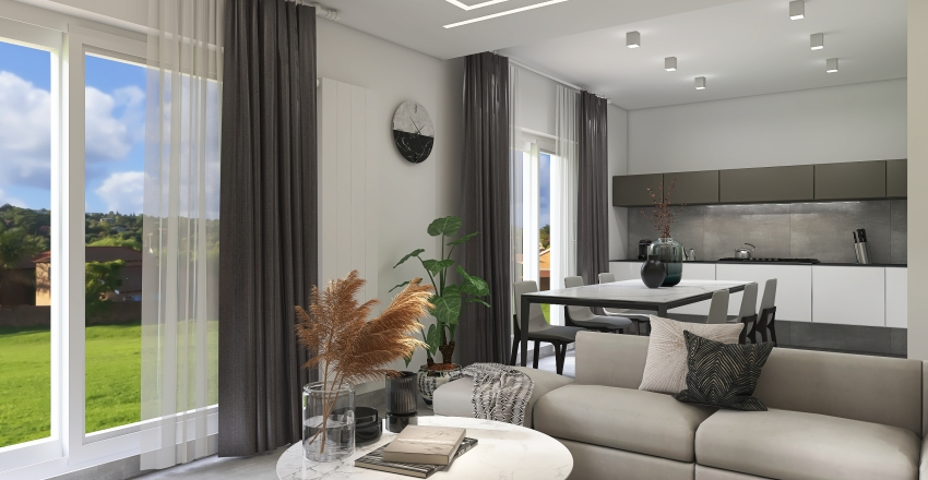 House in countryside Interior Design Render
