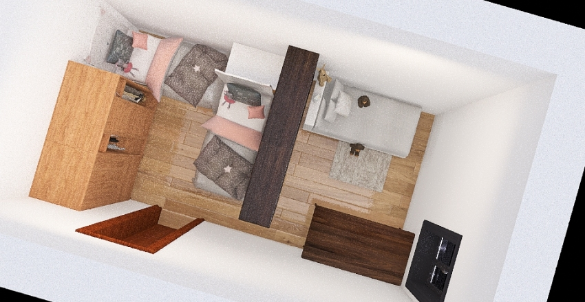 Sara Valera camera reale Interior Design Render