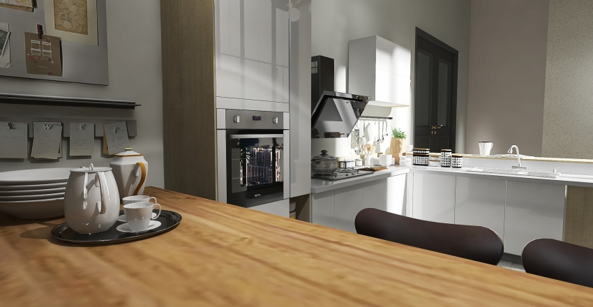 Winter Interior Design Render