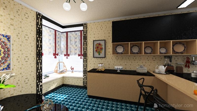 Новогодняя сказка Interior Design Render