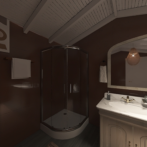 Wabi-Sabi Interior Design Render