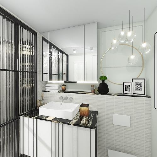 Small bathroom makeover Interior Design Render