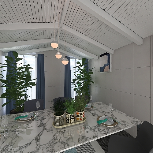 Frist home. Interior Design Render
