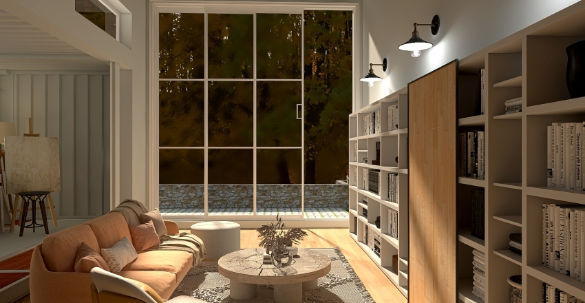 Two Containers Interior Design Render