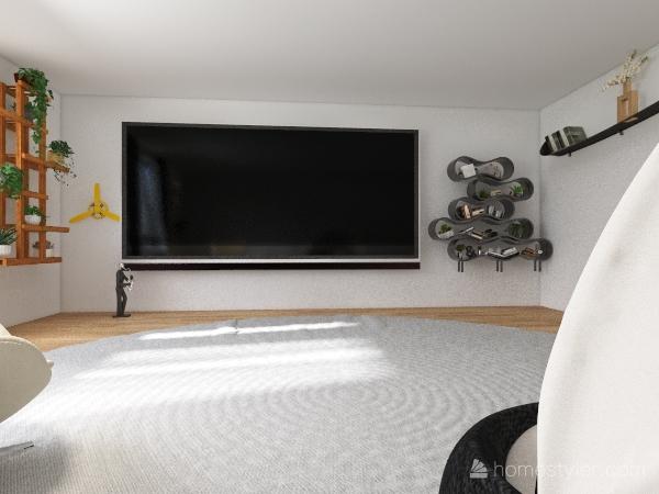 Tv room. Interior Design Render