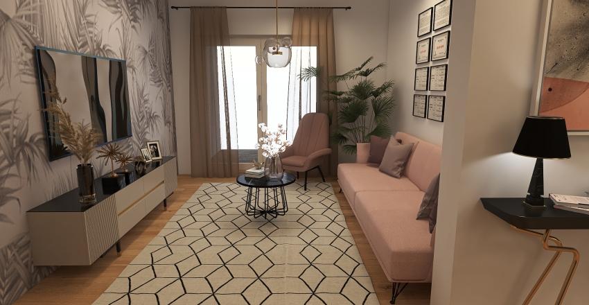 shades of pink Interior Design Render