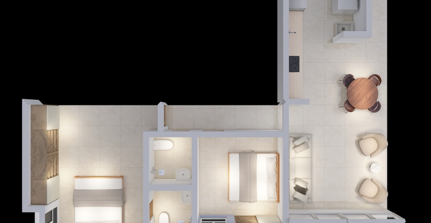 Apartment for sale (Doral Country) Interior Design Render
