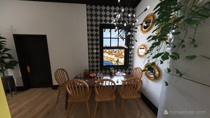 Eclectic home Interior Design Render