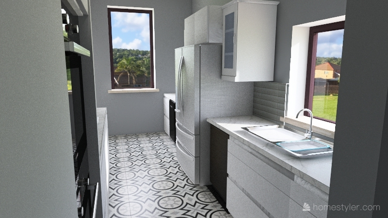 Marcy's Kitchen Interior Design Render