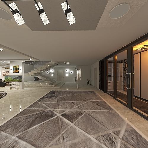 family villa Interior Design Render