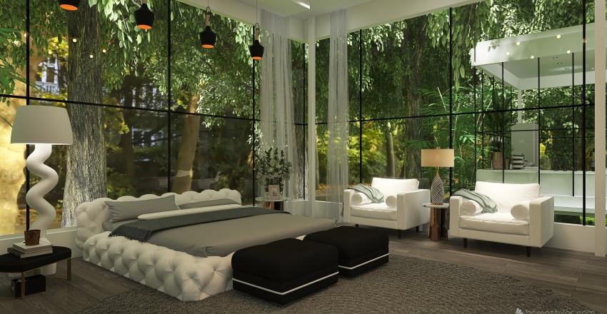 Isolation in the woods Interior Design Render