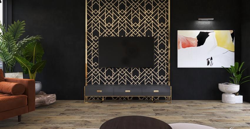 art deco saloon Interior Design Render
