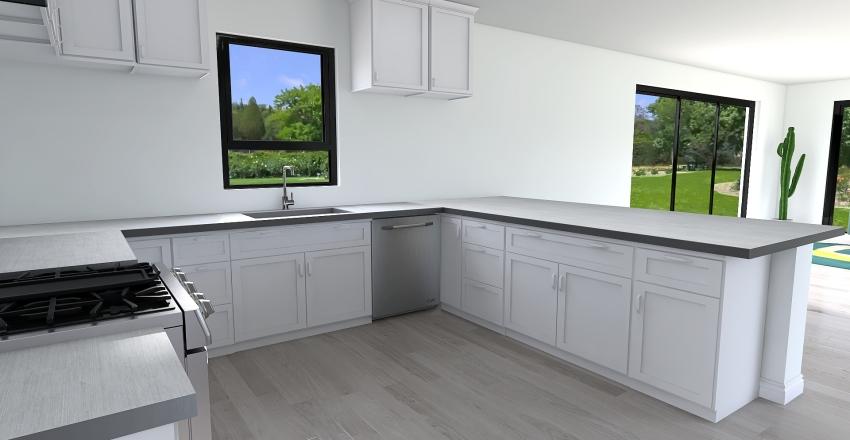 Palm Springs Kitchen Interior Design Render