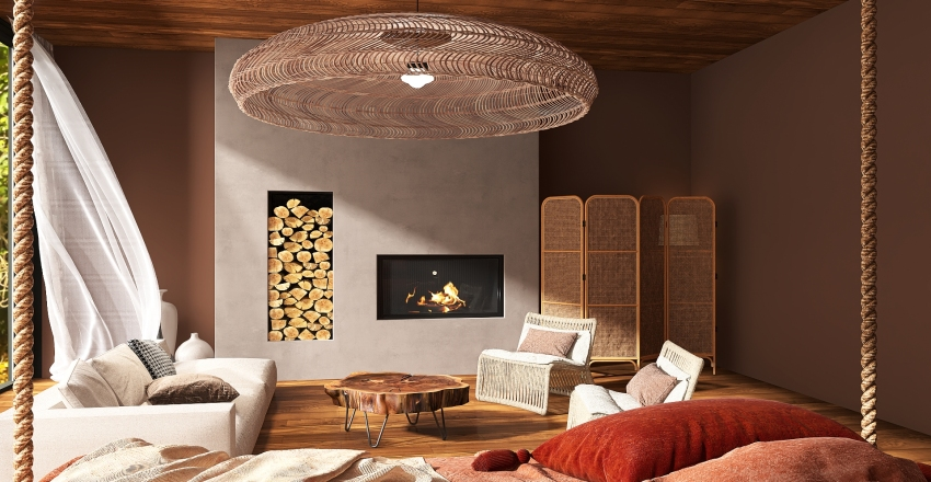Wabi Sabi  Interior Design Render