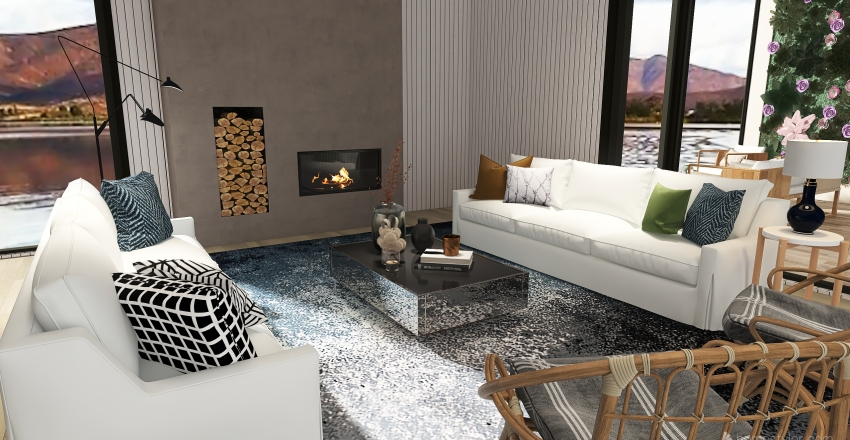 Outdoor Living Lake House Interior Design Render