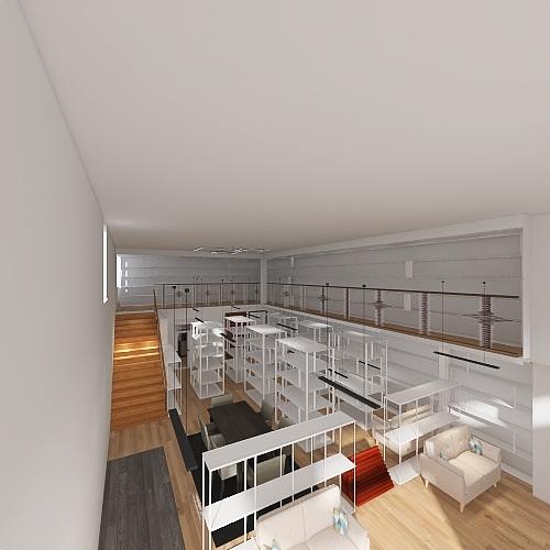1501 Grant - front mezz Interior Design Render