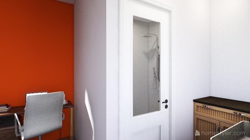 Super bright work space/studio Interior Design Render