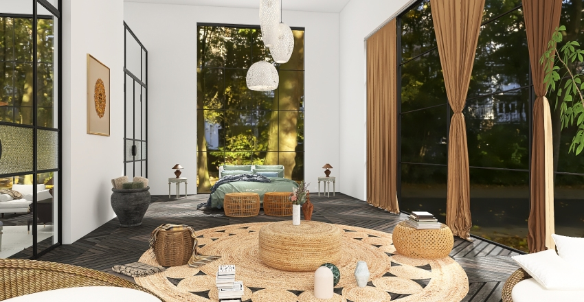 Classic Modern Design Interior Design Render